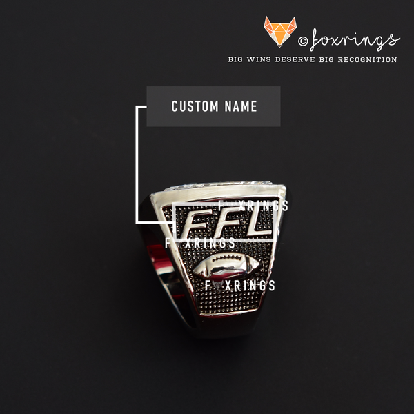 PREMIUM FFL - Fantasy Football League (2019) - CUSTOM NAME Championship Ring