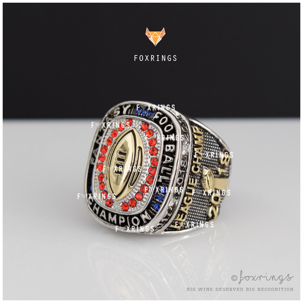 PREMIUM ULTIMATE Golden Football (2011-2018) - Fantasy Football League Championship Ring