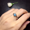 Perfect Blue Luminous Ring - 925 STERLING SILVER