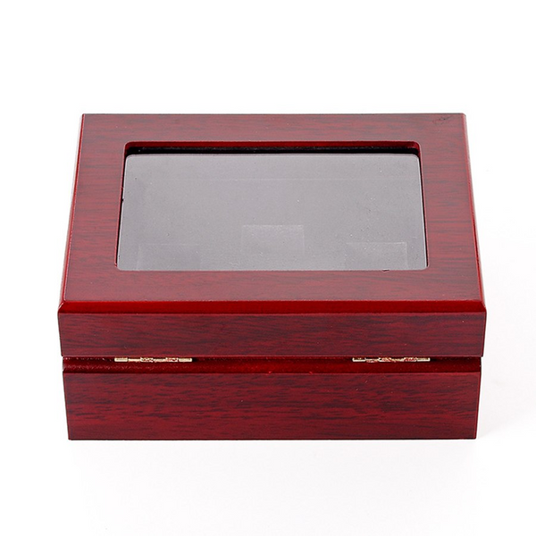 Wooden Display Box - Championship Ring Collector's Display Case