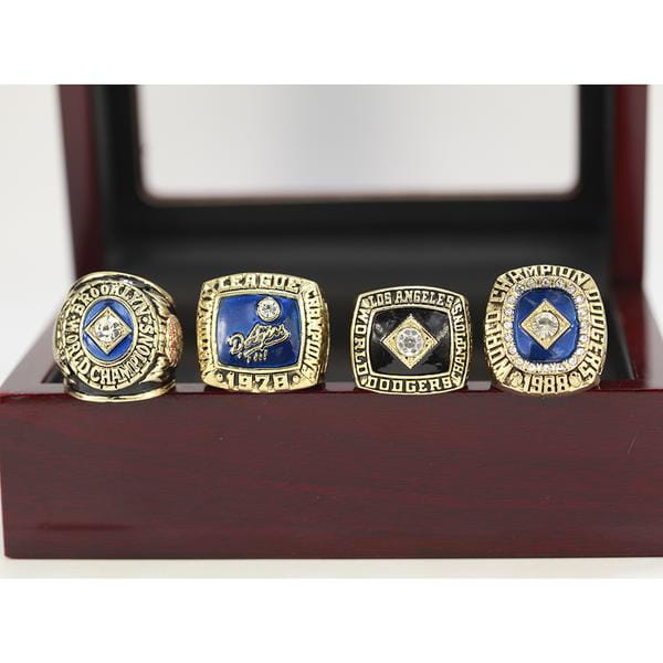 Los Angeles LA Dodgers - MLB Replica World Series Championship Rings [4 Ring Set]
