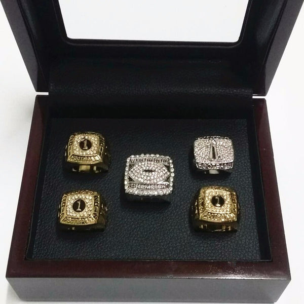 Fantasy Football League (2011 2012 2013 2014 2015) Championship Rings [5 Ring Set]
