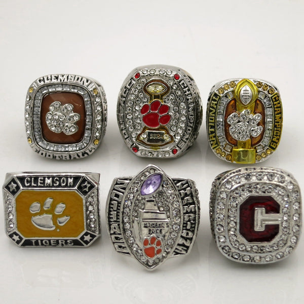 Clemson Tigers - Replica NCAA National Championship Rings [6 Ring Set]