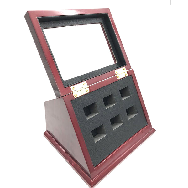 Wooden Standing Display Box - Collector's Ring Box