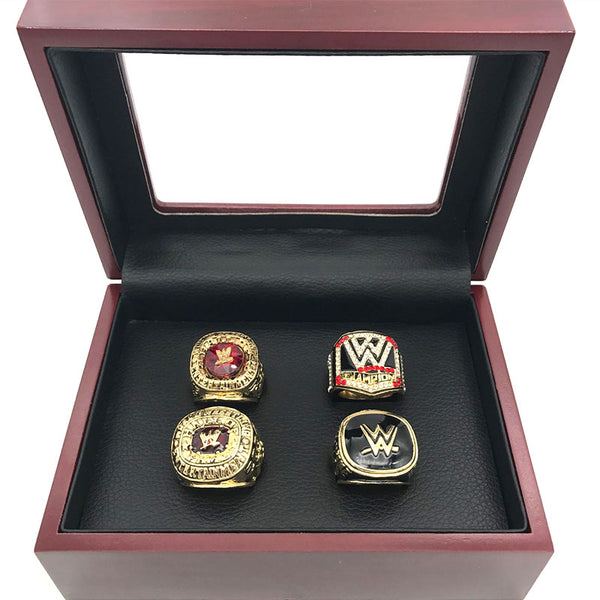 World Wrestling Entertainment Hall of Fame - Replica WWE Championship Rings [4 Ring Set]
