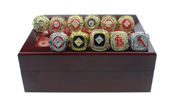St Louis Cardinals - World Series Replica MLB Championship Rings [11 Ring Set]