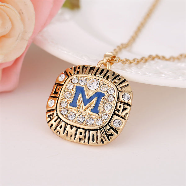 University of Michigan (1997) Replica NCAA Championship Necklace