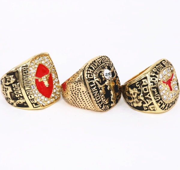 University of Texas Longhorns (1969 1999 2005) NCAA Replica Championship Rings [3 Ring Set]