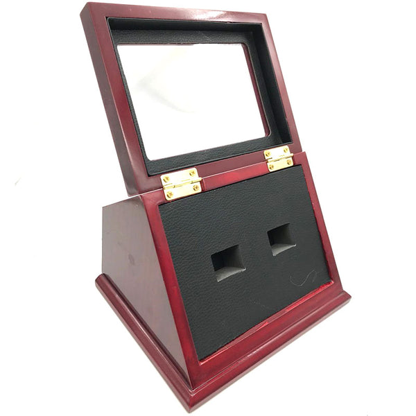 Wooden Standing Display Box - Championship Ring Collector's Display Case