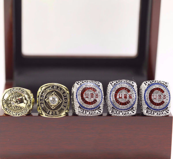 Chicago Cubs - Replica World Series Championship Rings (Bryant / Zobrist / Rizzo) [5 Ring Set]