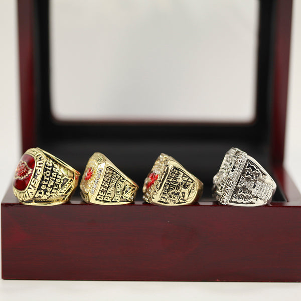 Detroit Red Wings - Stanley Cup Replica NHL Championship Rings [4 Ring Set]