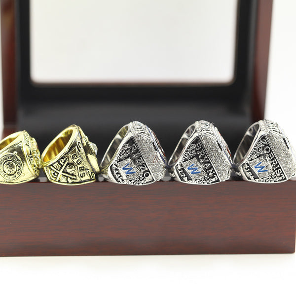 Chicago Cubs - Replica World Series Championship Rings [5 Ring Set]