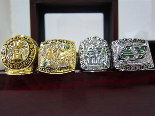 Saskatchewan Roughriders - Replica Grey Cup Championship Rings [4 Ring Set]