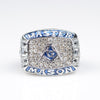 CUSTOM NAME Beautiful Blue Master Mason - Masonic Ring