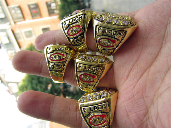 Montreal Canadiens (1956/1957/1958/1959/1960) - Replica NHL Stanley Cup Championship Rings [5 Ring Set]