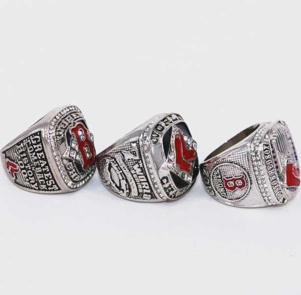 Boston Red Sox - Replica MVP Ortiz World Series Championship Rings [3 Ring Set]