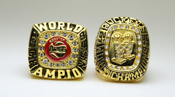 Houston Rockets (1994 1995) - Replica NBA Championship Rings [2 Ring Set]