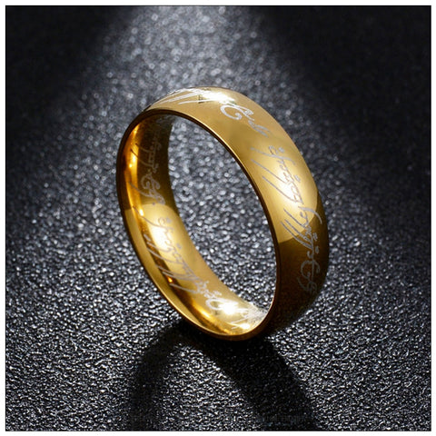 The Lord of Rings - One Ring of Power (Gold Black Silver) – Fox-Rings