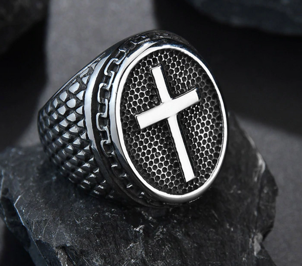 Pastor's Holy Cross Ring (Minister / Deacon / Bishop / Apostle)