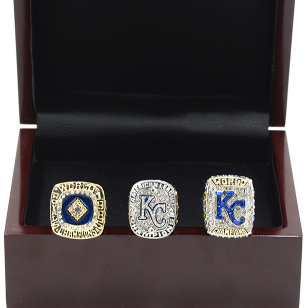 Kansas City Royals - Replica World Series Championship Rings [3 Ring Set]