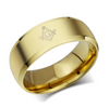 Stainless Steel Men's Masonic Ring Band (Gold Silver Black)