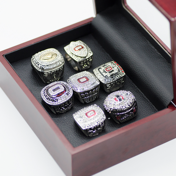 Ohio State Buckeyes NCAA - Replica National Championship Rings [7 Ring Set]