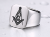 Low Profile (316L Stainless Steel) Masonic Ring