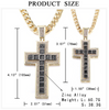 Jesus Cross Pendant (Cubic Zirconia) Iced Out Rhinestone Tennis Chain Necklace