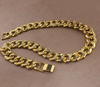 Iced Out (Gold) Cuban Link Chain - Cubic Zirconia Diamond Necklace