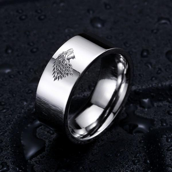 Game of Thrones Inspired (House Stark of Winterfell) - Stainless Steel Ring