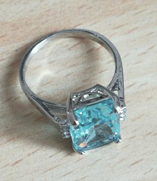 The Purity Ice Blue Aquamarine Ring