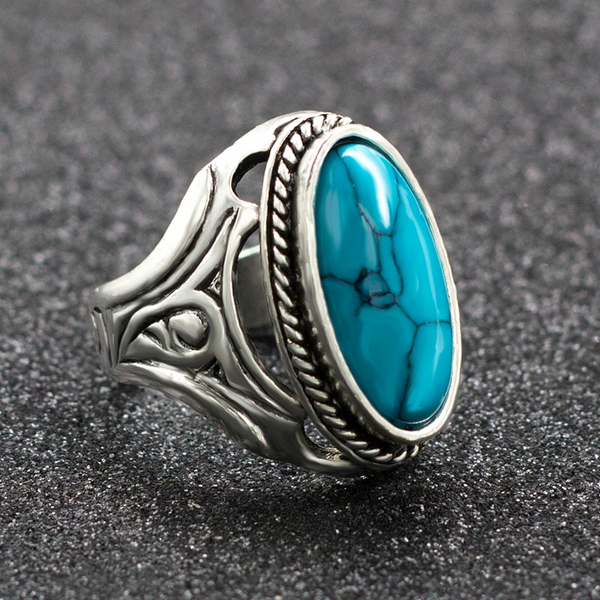 Oval Turquoise Perfect Twirl Ring