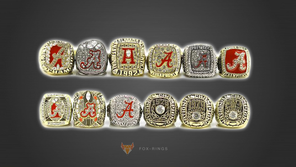 Alabama Crimson Tide NCAA - Replica National Championship Rings [12 Ring Set]