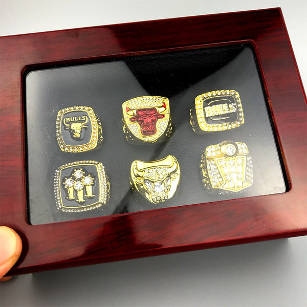 Chicago Bulls - Replica Jordan Replica NBA Championship Rings [6 Ring Set]