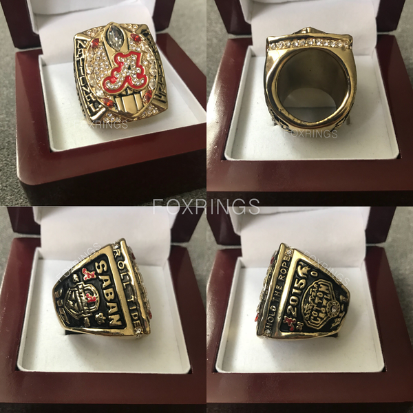 Alabama Crimson Tide NCAA (2015) - Replica National Championship Ring