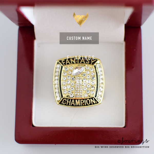 PREMIUM FFL - Fantasy Football League (2017) - CUSTOM NAME Championship Ring