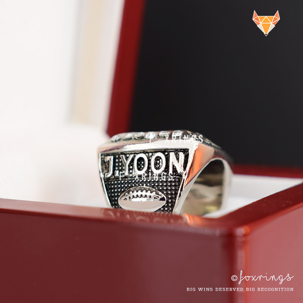 FFL - Fantasy Football League (2017) - CUSTOM NAME Championship Ring (Silver Plated)