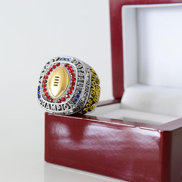 Fantasy Football League (2020) - CUSTOM NAME Championship Ring (RWB Golden Football)