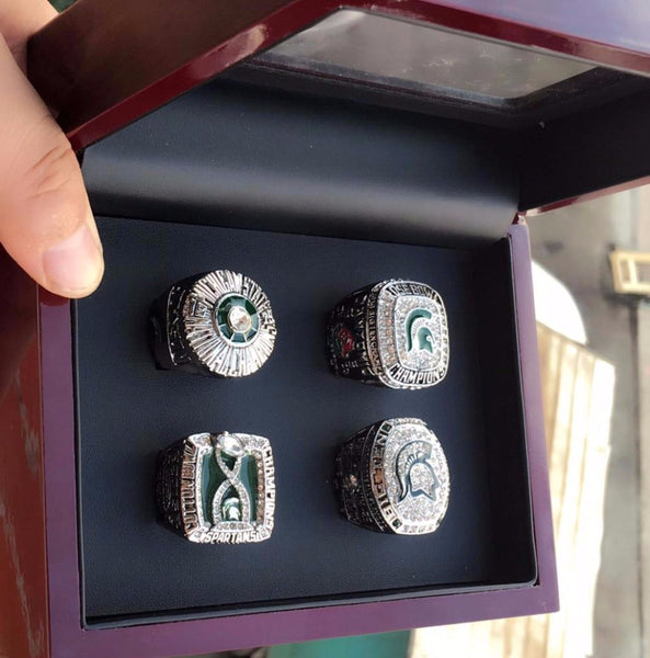 Michigan State Spartans Football - Replica NCAA Rose Bowl Championship Rings [4 Ring Set]
