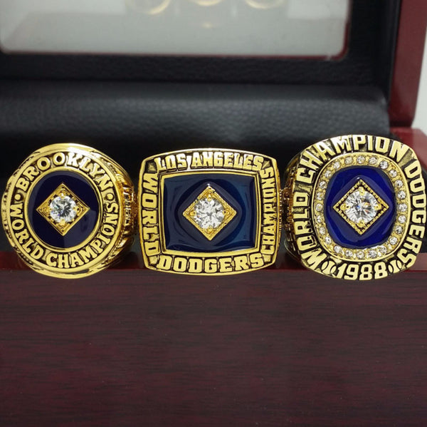 Los Angeles LA Dodgers - MLB Replica World Series Championship Rings [3 Ring Set]