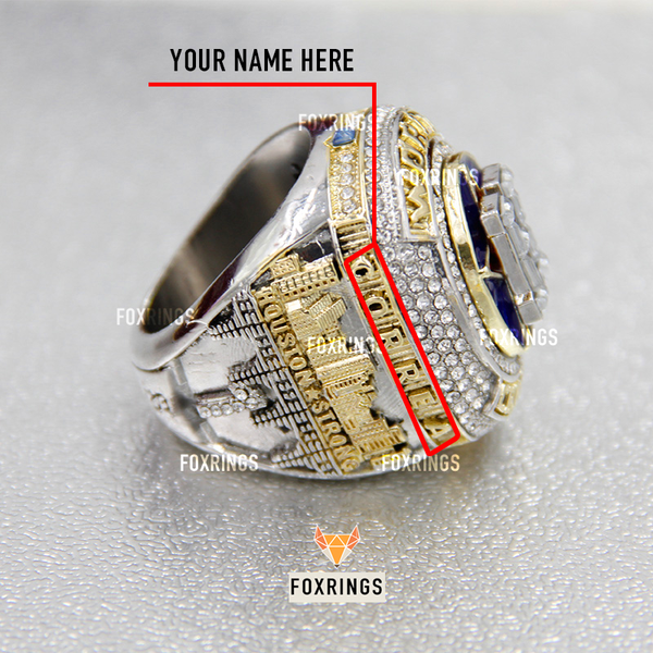 Houston Astros (2017) CUSTOM NAME Replica World Series Championship Ring (Official Design)