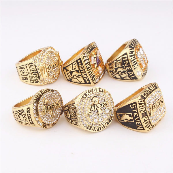 Los Angeles Lakers NBA - Replica MVP Bryant Championship Rings [6 Ring Set]
