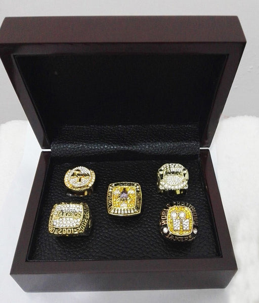 Los Angeles Lakers NBA - Replica MVP Bryant Championship Rings [5 Ring Set]