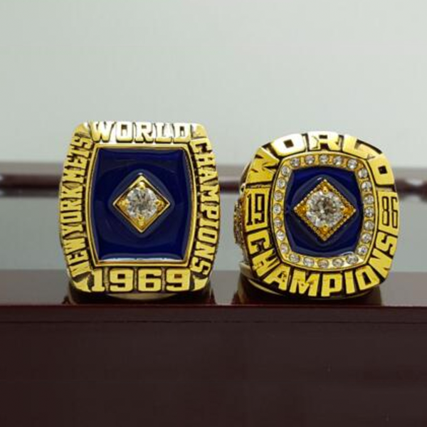 New York Mets (1969 1986) Replica MLB World Series Championship Rings [2 Ring Set]