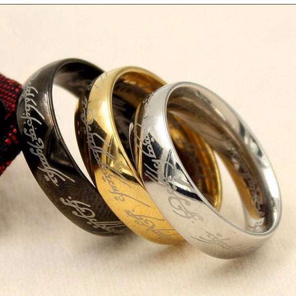 The Lord of Rings - One Ring of Power (Gold Black Silver)