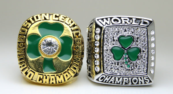 Boston Celtics (1984 2008) Replica NBA Championship Rings [2 Ring Set]