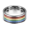 LGBTQ Pride Ring (Stainless Steel) Rainbow Ring