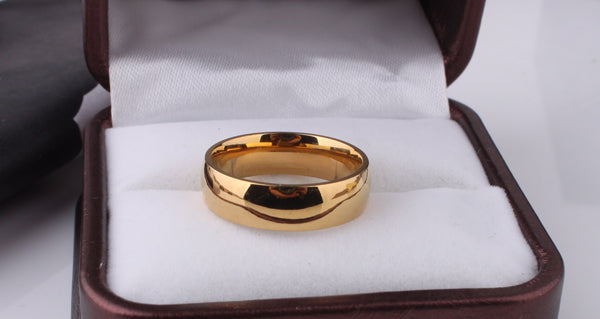 Classic Gold (316L Stainless Steel) Men's Wedding Ring