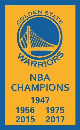 Golden State Warriors (2017) Flag (3' x 5') Championship Banner
