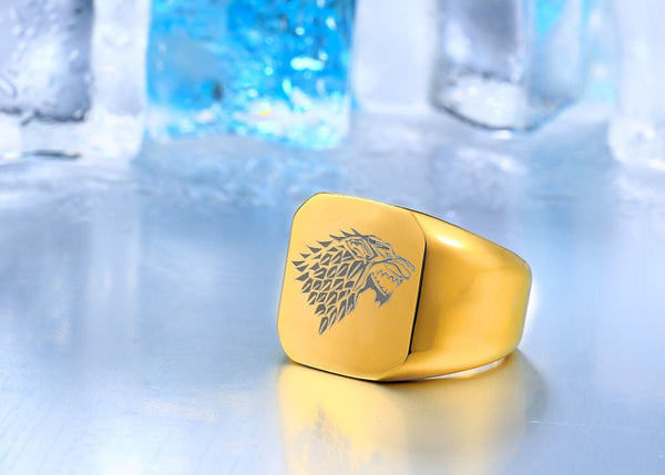 Game of Thrones (House Stark - Wolf Signet) Polished 316L Stainless Steel